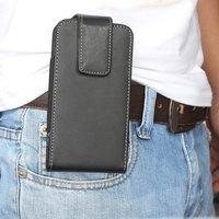 Clip pantalon iPhone 6 6s 7 8 SE 2020 - étui cuir noir