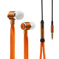 Écouteurs à Lacets Mic In-Ear - Orange Metallic