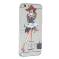 Coque TPU Coffee Girl iPhone 6 6s - Transparente