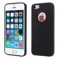 Coque silicone iPhone 5 5s SE noire