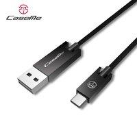 Caseme USB to USB C cable 1.2 mètre - câble de charge noir