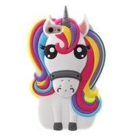 Coque en silicone Rainbow Unicorn pour iPhone 5 5s SE 2016 - Rainbow Unicorn
