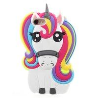 Coque iPhone 7 8 SE 2020 en silicone Rainbow Unicorn - Rainbow Unicorn