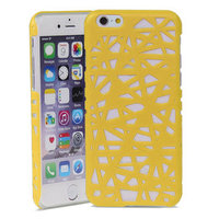 Coque rigide iPhone 6 6s Bird Nest Design Bird Nest - Jaune