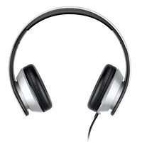 Écouteurs stéréo filaires sur écouteurs i60 - Microphone métallique argentée