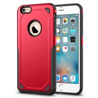 Coque iPhone 6 6s Pro Armor Shockproof - Housse de protection Rouge - Extra Protection rouge