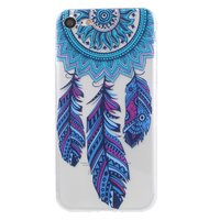 Coque iPhone 7 8 SE 2020 en TPU Clear Dreamcher Feather - Bleu Violet