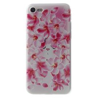 Coque iPhone 7 8 SE 2020 en TPU Dulcii Peach Flower - Rose Blanc