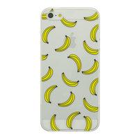 Coque Banana Transparente Coque silicone iPhone 5 5s SE TPU SE Fruit jaune transparent bananes