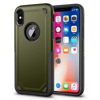 Coque iPhone X XS antichoc Pro Armor - Housse de protection verte - Protection supplémentaire
