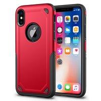 Coque iPhone X XS antichoc Pro Armor - Housse de protection Rouge Rouge - Protection supplémentaire