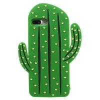 Étui en silicone pour cactus Étui iPhone 7 Plus 8 Plus - Vert