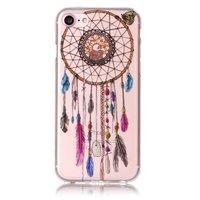 Coque en TPU Capteur de rêves transparente iPhone 7 8 Plume - Transparente