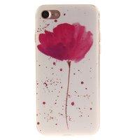 Coque Poppy TPU pour iPhone 7 et 8 SE 2020 - Blanc Rose