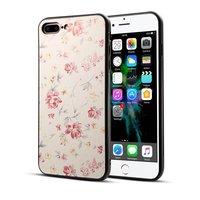 Étui floral classique iPhone 7 Plus 8 Plus - rose pastel