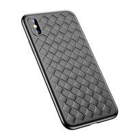 Housse en TPU tissé pour Baseus Weaving Case pour iPhone X XS - Noir