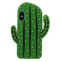 Coque 3D en silicone pour cactus Coque iPhone X XS - Vert