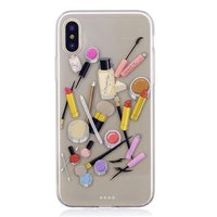 Coque en TPU de maquillage pour iPhone X XS - Transparente