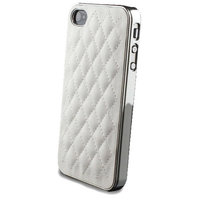Etui en cuir de luxe pour iPhone 4 4s en cuir avec étui en cuir - Blanc
