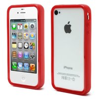 Coque de protection silicone iPhone 4 4S 4G - Rouge