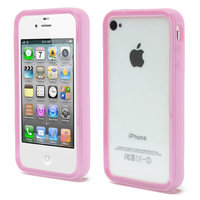 Coque iPhone 4 4S 4G Housse silicone silicone - Rose