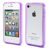 Coque iPhone 4 4S 4G Housse silicone silicone - Violet