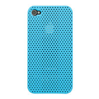 Coque iPhone 4 4S Mesh Case Hole Case - Bleu clair