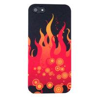 Coque iPhone 5 5s SE Colorée - Rouge Flames