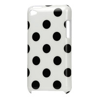 Housse iPod Touch 4 Coque Polkadot Dots Cover Housse - Blanc