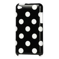 Housse iPod Touch 4 Coque Polkadot Motif Pois Housse - Noire