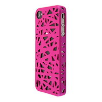 Coque nid d'oiseau iPhone 4 4s - rose
