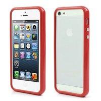 Housse pare-chocs pour iPhone 5 5s et iPhone SE - Rouge