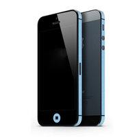 Autocollant pare-chocs iPhone 5 5s SE Décor Color Edge Skin - Bleu clair