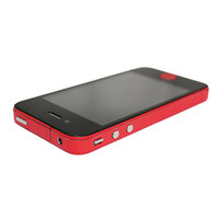 Autocollants pour pare-chocs Decor Color Edge iPhone 4 4s Skin - Rouge