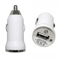 Chargeur allume-cigare Chargeur allume-cigare pour iPhone iPod Car Plug - Blanc