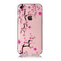 Étui en TPU branches de fleurs roses iPhone 7 8 - Transparent