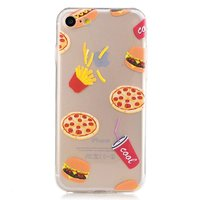 Coque fastfood pizza frites iPhone 7 8 - Transparent