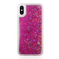 Coque Scintillante iPhone X XS - Rose Transparent