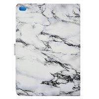 Etui en marbre Etui en marbre iPad 2017 2018 - Blanc Gris
