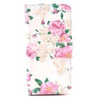 Etui Portefeuille pour iPhone 5 5s SE en Cuir Artificiel Rose Classique - Rose