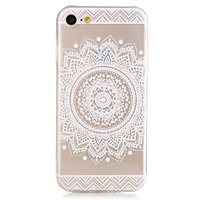 Coque en TPU Mandala iPhone 7 8 transparente - Blanc