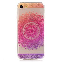Coque en TPU Mandala iPhone 7 8 transparente - Rose Pourpre