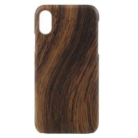 Etui rigide rigide en bois iPhone X XS - marron