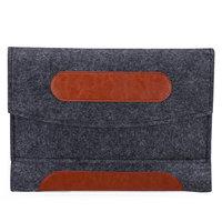 Etui pour iPad mini simili cuir et feutre - Etui gris