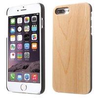 Etui en bois clair Etui en bois pour iPhone 7 Plus 8 Plus - Marron clair