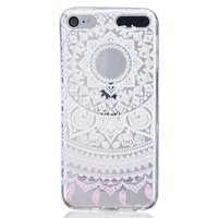 Coque TPU transparente motif Mandala iPod Touch 5 6 7 - Blanc Rose clair