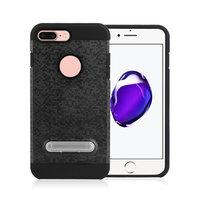 Étui hybride en plastique TPU standard pour iPhone 7 Plus 8 Plus - Noir