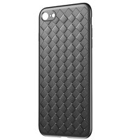 Coque iPhone 7 8 SE 2020 en TPU Baseus Weaving Case - Noire
