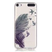 Coque en TPU Feather Birds pour iPod Touch 5 6 7 - Bleu Vert