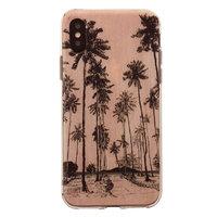 Étui illustré de palmiers Tinystories pour iPhone X XS - Etui Pink Palm